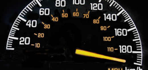 speedometer reading maximum speed
